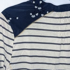 Anthropologie Tops - Anthro Tiny Sailboat Stargazing Floral Striped Top